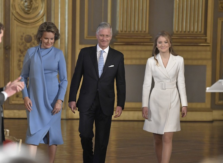 Le couple royal et la Princesse Elisabeth