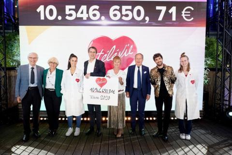 Plus de 10 millions d'euros pour le Télévie 2020