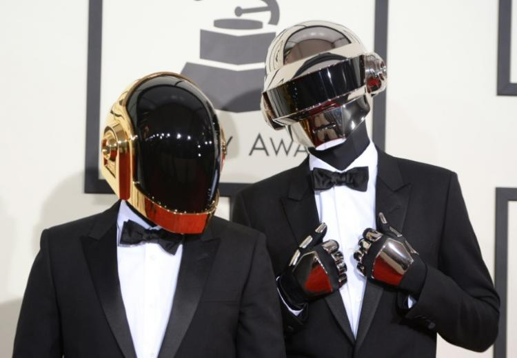 Le duo Daft Punk le 26 juin 2014 à Los Angeles