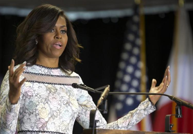 Michelle Obama change de ton